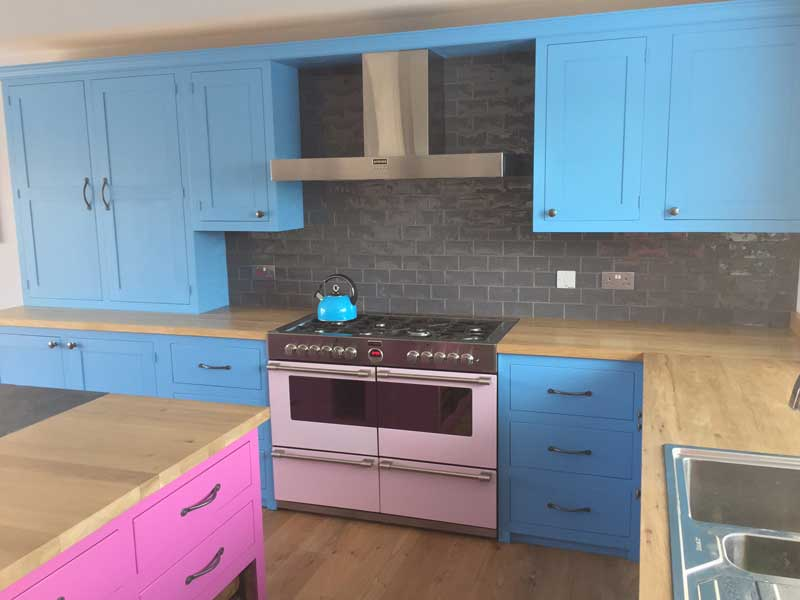 unique kitchen units, not on the high street, hand made to your specifications and painted in a colour of your choice, The Bramble Tree Kitchen makers, Nottinghamshire