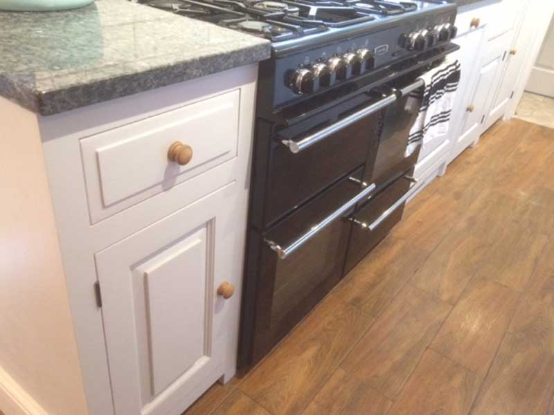 bespoke kitchens in Maidstone, Kent, hand painted units Solid wood cabinets made to order from The Bramble Tree kitchens