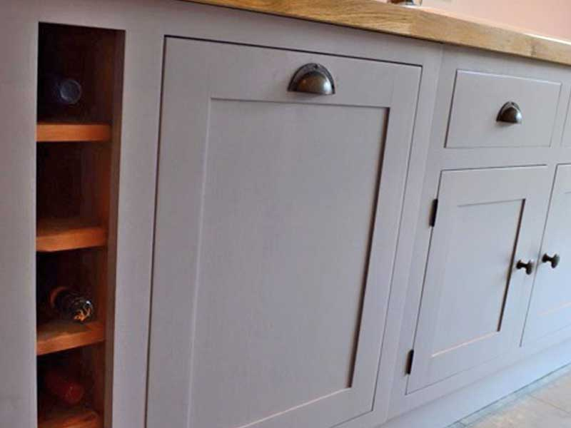 bespoke kitchens, hand painted units Solid wood cabinets made to order from The Bramble Tree kitchens