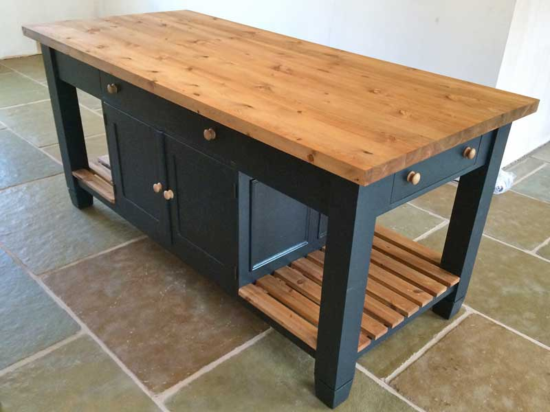 island kitchen carts and tables  tailor made to your needs from The Bramble Tree delivered nationwide in the UK